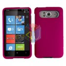 FOR HTC HD7 HD 7 Cover Hard Case Rubberzied Rose Pink