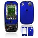 For Palm Pre Plus Cover Hard Case Rubberized Blue