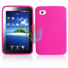 For Samsung Galaxy Tab (i800 / p1000) Silicon cover soft case Hot Pink