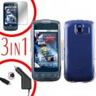For LG Optimus-S / LS670 Screen +Car Charger +Hard Case Clear 3-in-1