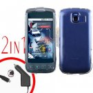 For LG Optimus-S / LS670 Car Charger +Cover Hard Case Clear 2-in-1