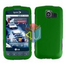 For LG Optimus S / LS-670 Cover Hard Case Rubberized Green
