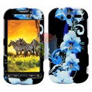For HTC MyTouch 4G / Panache 4G Protector Screen + Cover Hard Case Flower