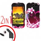For HTC T-Mobile Mytouch 4g Car Charger +Cover Hard Case Love