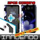 For Sanyo innuendo Car Charger +Hard Case B-Flower +Screen 3-in1
