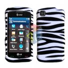 For LG Shine Touch KM555 Cover Hard Case Zebra