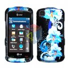 For LG Shine Touch KM555 Cover Hard Case Flower