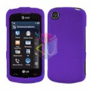 For LG Shine Touch KM555 Cover Hard Case Rubberized Purple