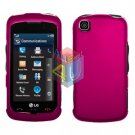 For LG Shine Touch KM555 Cover Hard Case Rubberized Rose Pink