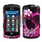 For LG Shine Touch KM555 Cover Hard Case Love