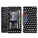 For Motorola Milestone 2 Cover Hard Case Polka Dot