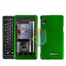 For Motorola Milestone 2 a953 Cover Hard Case Rubberized Green