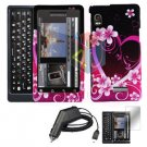 For Motorola Droid 2 a955 Screen + Car Charger + Hard Case Love 3-in-1