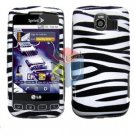 For LG Optimus S / LS-670 Cover Hard Case Zebra