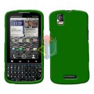 For Motorola Droid Pro A957 Cover Hard Case Rubberized Green
