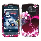 For LG Optimus S / LS-670 Cover Hard Case Love