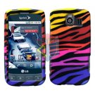 For LG Optimus S / LS-670 Cover Hard Case C-Zebra