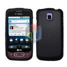 For LG Optimus T / P509 Cover Hard Case Rubberized Black