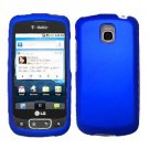 For LG Optimus T / P509 Cover Hard Case Rubberized Blue
