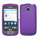 For LG Optimus T / P509 Cover Hard Case Rubberized Purple
