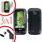 For LG Cosmos Touch VN270 Screen +Car Charger +Hard Case Clear 3-in-1