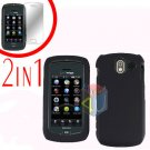 For Pantech Crux / CDM8999 Cover Hard Case Rubberized Black +Screen 2-in-1