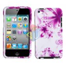 For ipod touch 4 Cover Hard Case H-Flower