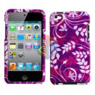 For ipod touch 4 Cover Hard Case P-Flower