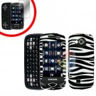 For Samsung Reality U820 Cover Hard Case Zebra +Screen 2-in-1
