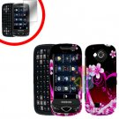 For Samsung Reality U820 Cover Hard Case Love +Screen 2-in-1