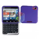 For Motorola Flipout MB511 Cover Hard Case Rubberized Purple