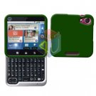 For Motorola Flipout MB511 Cover Hard Case Rubberized Green