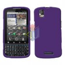 For Motorola Droid Pro A957 Cover Hard Case Rubberized Purple