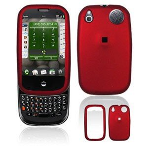 For Palm Pre Plus Cover Hard Case Rubberized Red