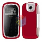 For Pantech impact P7000 Cover Hard Case Rubberized Red