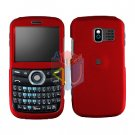 For Pantech Link P7040 Cover Hard Case Rubberized Red