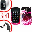 For Pantech Crux / CDM8999 Screen +Car Charger +Hard Case Love 3-in-1