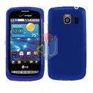 For LG Vortex VS660 Cover Hard Case Rubberized Blue