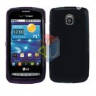 For LG Vortex VS660 Cover Hard Case Rubberized Black