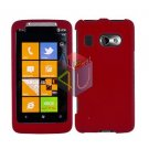 FOR HTC Surround T8788 Car Charger + Cover Hard Case Rubberized Red 2-in-1