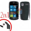 For Samsung Focus i917 Car Charger +Cover Hard Case Clear 2-in-1