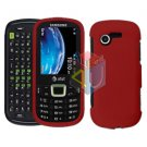 For Samsung Evergreen A667 Cover Hard Case Rubberized Red