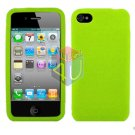 For Apple iphone 4S 4 Cover Hard Case Rubberized Neon Green