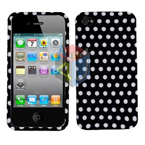 For Apple iphone 4S 4 Cover Hard Case Polka Dot