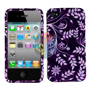 For Apple iphone 4S 4 Cover Hard Case P-Flower