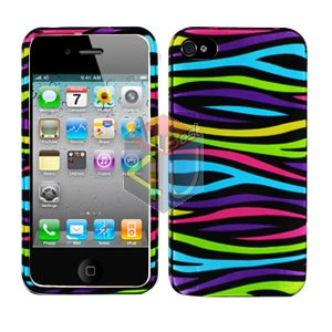 For Apple iphone 4S 4 Cover Hard Case Rainbow