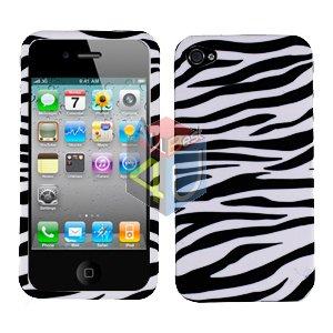 For Apple iphone 4S 4 Cover Hard Case Zebra