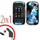 For Pantech Crux / CDM8999 Car Charger +Hard Case Flower 2-in-1