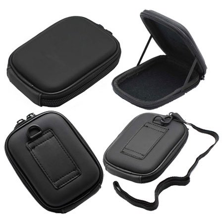 For Canon Powershot A490 Digital Camera Carrying Case w/ Shoulder Strap