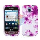 For LG Optimus T / P509 Cover Hard Case H-Flower